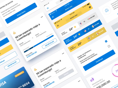 Finance white label design system. design system component library components styleguide web interaction banking finance bank flat minimal animation interface design app ux ui