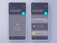 Send/Transfer Money Mobile App by Juan Fer ☄️ on Dribbble