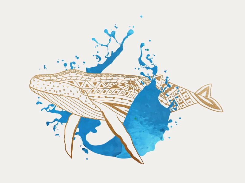 Whale Splash graphic art gold design society 6 artist redbubble artist redbubble society6 animal art line art illustration digital design graphic  design animal whale lover sea sealife humpback whale humpback marine life whale