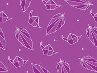 Snail & leaf origami inspired