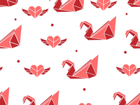 Seamless patterns, origami inspired