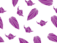 Origami inspired seamless patterns