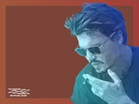 Johnny Depp on Vector Lowpoly Illustration