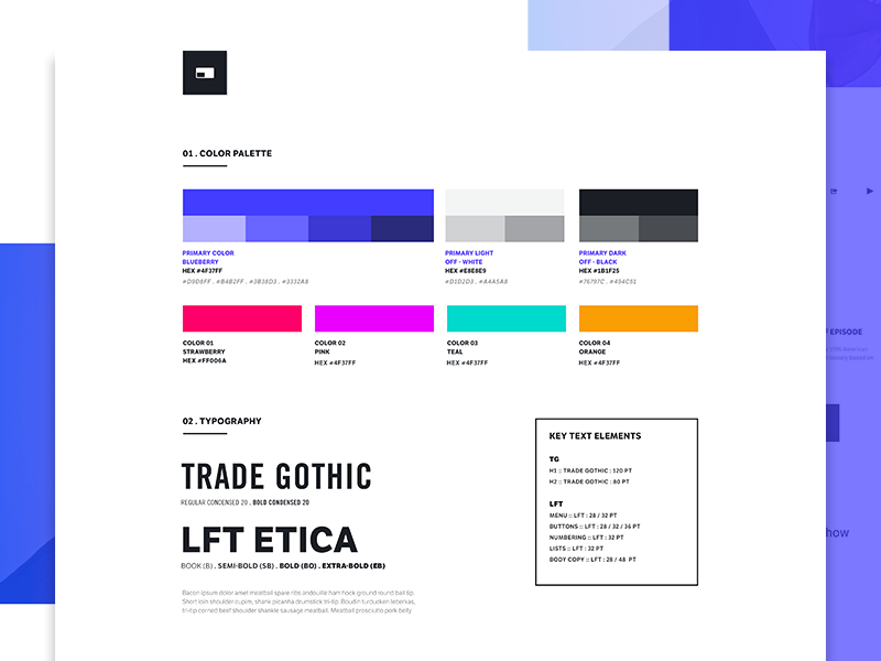 (Unused) Product Style Guide design ui interface style guide