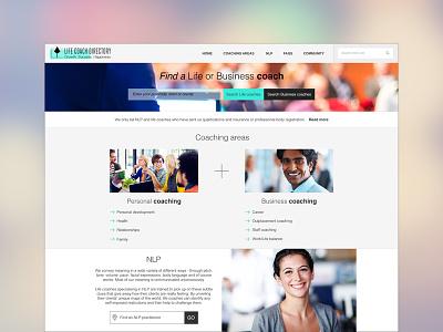 Life Coach Directory website design website design life coaching website clean website design