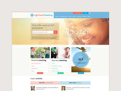 Life Coach Directory WIP website design life coaching website clean website design