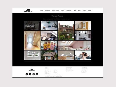 Skylofts Website design clean web design loft conversion website design responsive web design