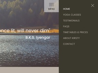 Glow Yoga Responsive Website