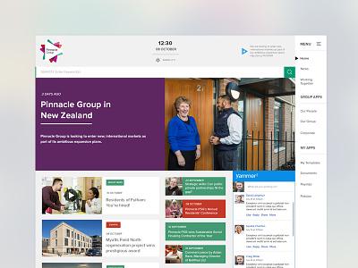 Intranet concept design homepage design intranet design