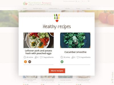 Nutritionist Resource Website recipes food website design illustration branding logo design nutritionist resource nutrition website