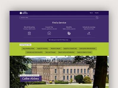 Council Website Design ui design website design