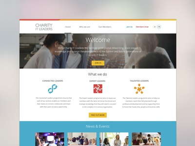 Charity IT Leaders website redesign projects charity it leaders charity website ui ux website design