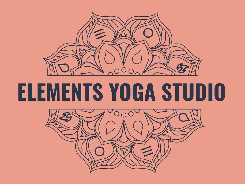 Elements Yoga Studio Logo Design branding design logo branding yoga studio yoga logo