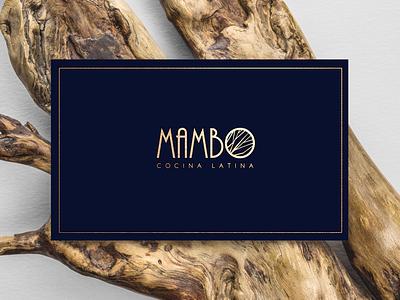 Mambo Restaurant bussines card logotype brand identity restaurant logo branding