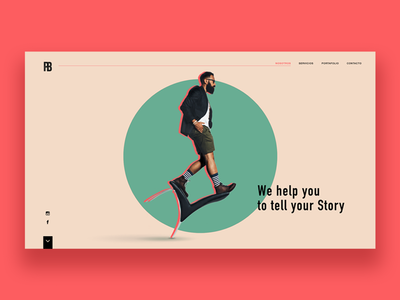 Production company landing page project