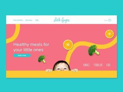 Little Fingers. Landing page. Case Study restaurant visual design web landingpage casestudy design ui graphic design