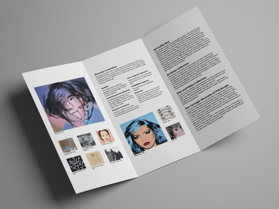 The Warhol Museum Brochure Redesign Concept brochure design andy warhol publication design publication indesign layout design clean whitespace contemporary modern typography pop art brochure layout