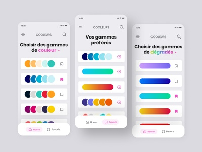 Daily UI #44 - Favorite colors ui design colors pick app design app interface colors design ui daily ui daily 100 challenge