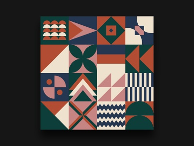 Daily UI #59 - Background Pattern Bauhaus illustration bauhaus100 bauhaus pattern background design daily ui daily 100 challenge
