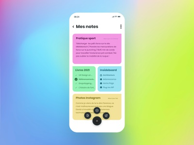 Daily UI #65 - Notes Minimal minimalism minimal app interface ui design ui colors design daily ui daily 100 challenge