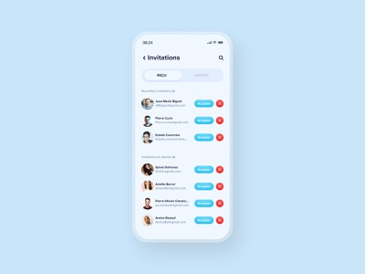 Daily UI #78 - Pending invitation app design application app interface ui design ui colors design daily ui daily 100 challenge