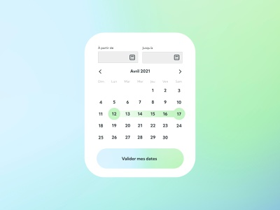 Daily UI #80 - Date Picker reservation date ui design mash gradient gradient colors ui design daily ui daily 100 challenge