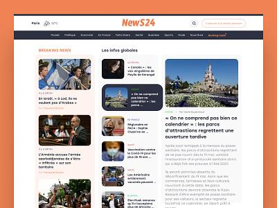Daily UI  #94 - News news newsfeed web webdesign interface colors ui design daily ui daily 100 challenge