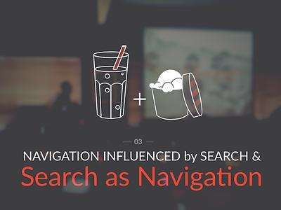 Search as Navigation keynote giantconf ux illustration ia navigation presentation usability flat