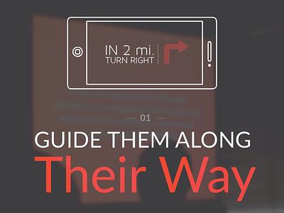 Be Their Guide flat illustration ux ia giantconf keynote navigation presentation usability