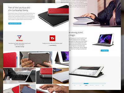 SurfacePad for iPad full width website minimal ux ui gallery responsive ipad product ecommerce clean