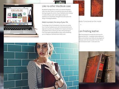 BookBook Rutledge bookbook rutledge twelve south product gallery clean fullscreen ecommerce ux minimal web