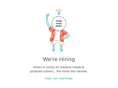 Careers with Culture illustration jobs culture hawaiian avatar shirt light bulb flipflop careers
