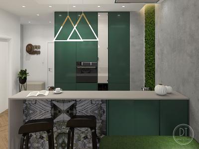 Bezručova Residence - Kitchen halldesign interior 3dvisualization visualizations visual art interior design ideas interior architecture interior designer interior design
