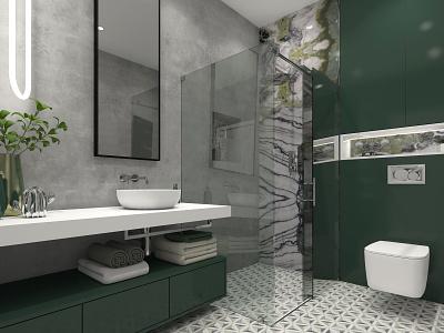 Bezručova Residence - Bathroom luxury apartment interior architecture interiordesign 3d visualiser luxury design visualization interior design ideas interiordesigner 3dvisualization interior design interior