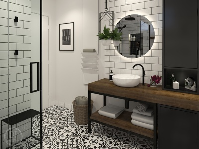 Industrial bathroom bathroomdesign bathroom dtinteriordesign design visualization 3dvisualization interior design ideas interiordesigner interior design interior