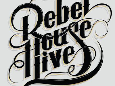 Rebel House Live logo logotype lettering rebel house live dj disco music type mexico australia sonora hermosillo