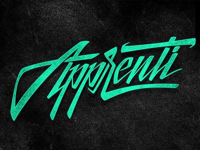 Apprenti logo lettering dj techno music logo type logotype mexico df hermosillo sonora typography