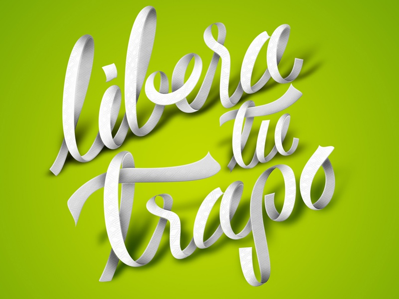 Libera Tu Trapo bounty lettering paper kitchen cloth logotype logo type typography craft mexico sonora