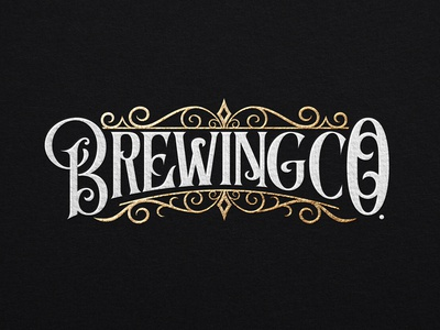 BREWING CO brew gold hot stamping branding handlettering lettering company beer brewing logo logotype