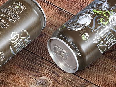 Mr Daniels be brewery logotype handlettering label label design beer can lettering beer