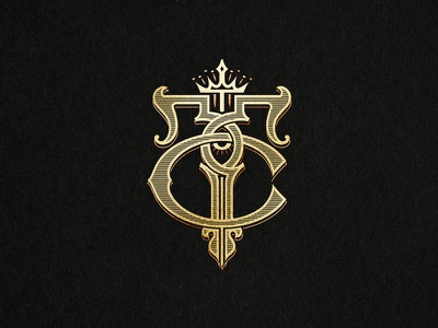 TC Monogram tattoo gold branding logotype monogram handlettering lettering eye