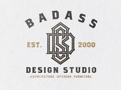 BDS Monogram - Badass Design Studio lettering animation logo logotype interior design furniture architecture studio design badass bds monogram handlettering lettering