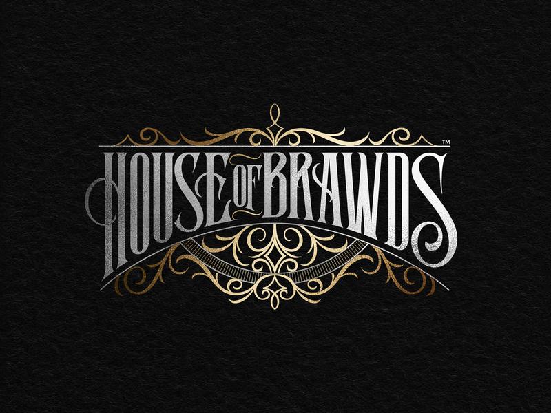 House of Brawds logo victorian models clothing branding handlettering lettering logotype