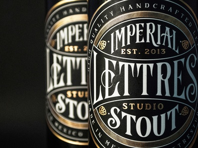 Lettres Studio Beer imperial stout product logo logotype letters craftbeer stout beer lettering