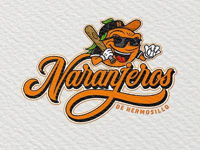 Naranjeros concept base badass branding letters illustration handlettering lettering logotype mascot naranjeros orange baseball
