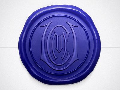UCM Wax Seal blue wax seal wax handlettering lettering