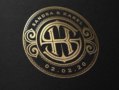 SK - Wedding Monogram monogram design monogram logo handlettering letters typography lettering wedding monogram