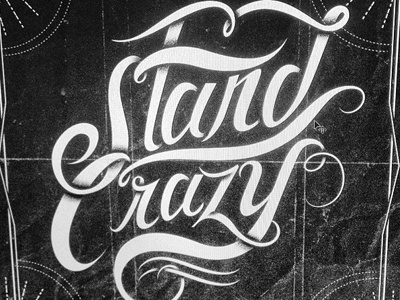 Stand Crazy lettering logo rap hip-hop typography cd shadows hermosillo mexico noise
