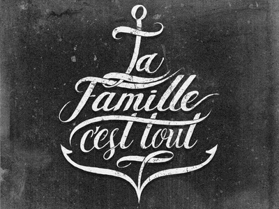 Tattoo design tattoo lettering typography anchor family sentimental mexico hermosillo sailors marines