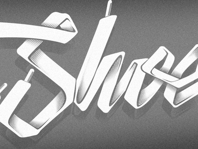 Tooshoes shoelaces shoe typography logo lettering effects shadows mexico australia hermosillo